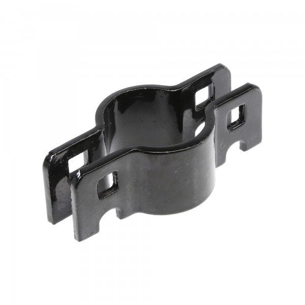 """Chain Link 1 3/8"""" Black Drop Fork Collar for Gate Latch Assemblies - Fork Clamp (Pressed Steel)"""