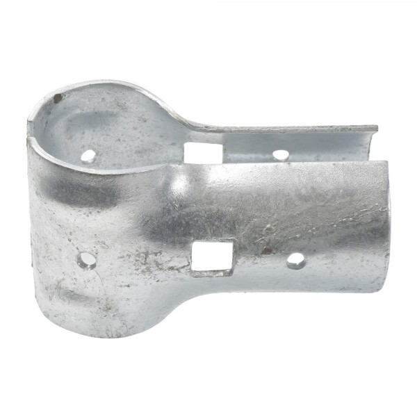 "Chain Link 1 3/8"" x 1 3/8"" End Rail Clamp - Rail Band, T Clamp (Galvanized Steel)"