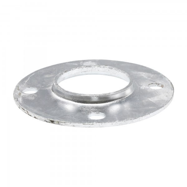 "Chain Link 2 1/2"" [2 3/8"" OD] Surface Mount Flange - Round Disk Flange (Pressed Steel)"
