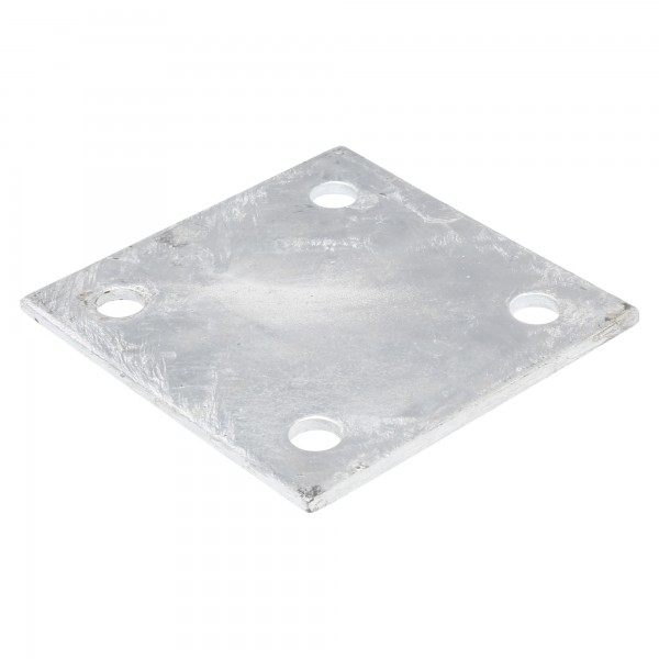 "Chain Link 6"" x 6"" x 1/4"" Square Weldable Surface Mount Floor Flange Base Plate (Galvanized Steel)"