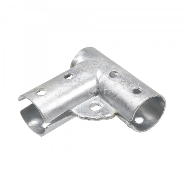 "Chain Link 1 3/8"" x 1 3/8"" Gate Corner for 90° Angles - Bottom Gate Elbow (Pressed Steel)"