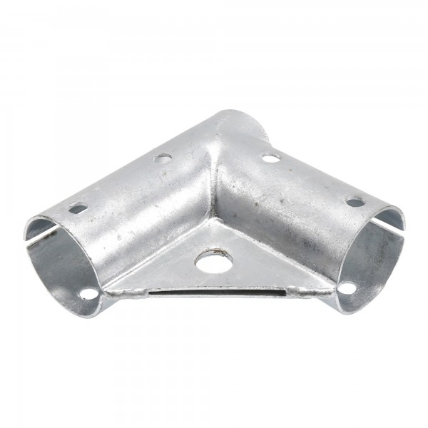 "Chain Link 2"" [1 7/8"" OD] x 2"" [1 7/8"" OD] Gate Corner for 90° Angles - Gate Elbow (Pressed Steel)"