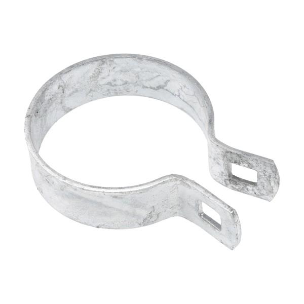 "Chain Link 3"" [2 7/8"" OD] Heavy Brace Band [11 Gauge] - Rail End Band (Galvanized Steel)"