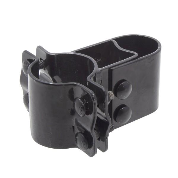 "2 1/2"" Black Industrial Box Hinge Pressed Steel (Fits 2 3/8"" OD)"