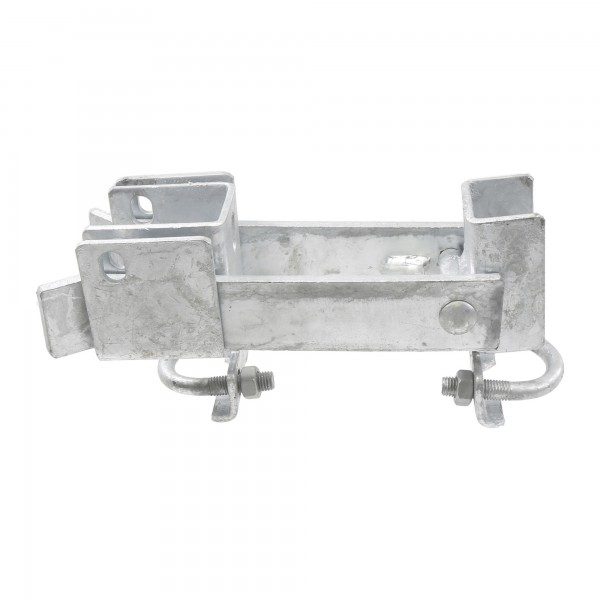 "Chain Link 1 5/8"" [1 5/8"" OD] or 2"" [1 7/8"" OD] Double Drive Industrial Commercial Grade Fulcrum Gate Frame Latch (Galvanized Pressed Steel)"