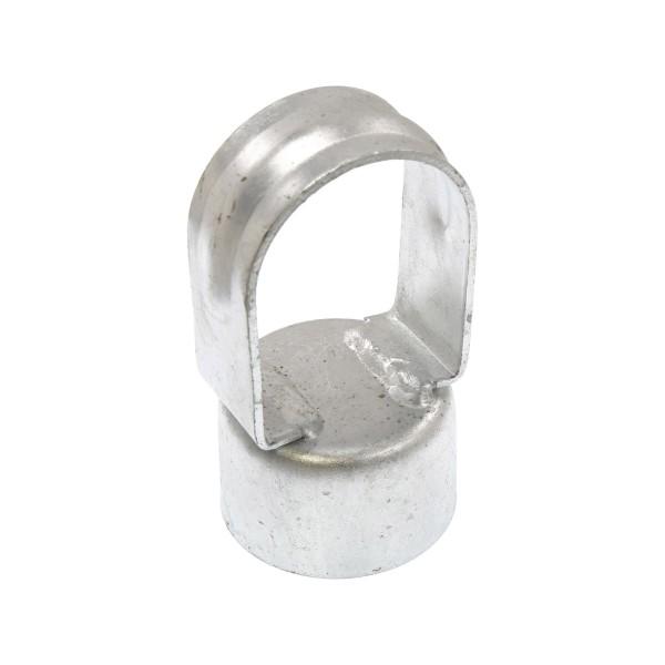 """Galvanized Pressed Steel 1 5/8"""" (1 5/8"""" OD) x 1 5/8"""" (1 5/8"""" OD) Top Rail Eye Top Loop Caps"""