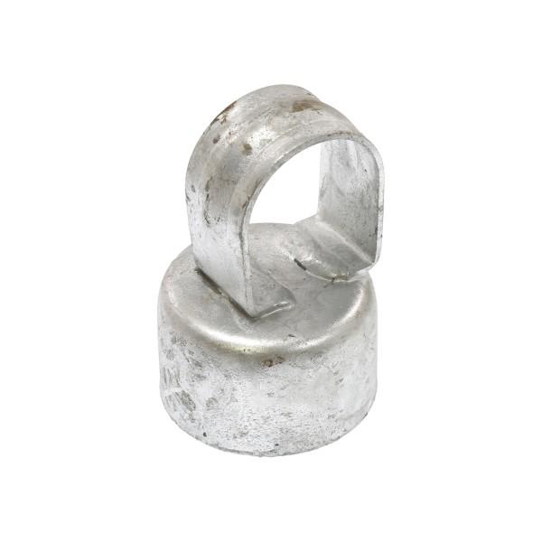 """Galvanized Pressed Steel 2"""" (1 7/8"""" OD) x 1 3/8"""" (1 3/8"""" OD) Top Rail Eye Top Loop Caps"""