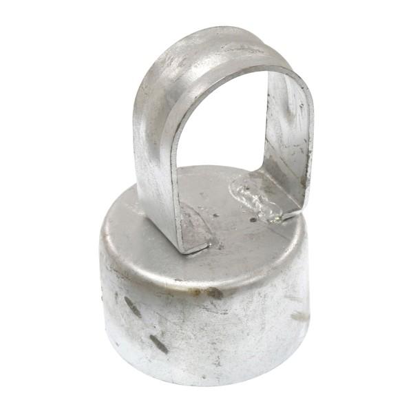 """Galvanized Pressed Steel 2 1/2"""" (2 3/8"""" OD) x 1 5/8"""" (1 5/8"""" OD) Top Rail Eye Top Loop Caps"""