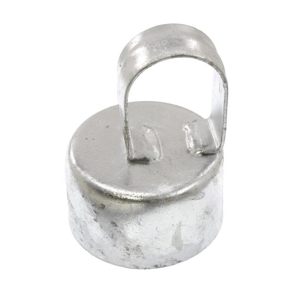 """Galvanized Pressed Steel 3"""" (2 7/8"""" OD) x 1 5/8"""" (1 5/8"""" OD) Top Rail Eye Top Loop Caps"""