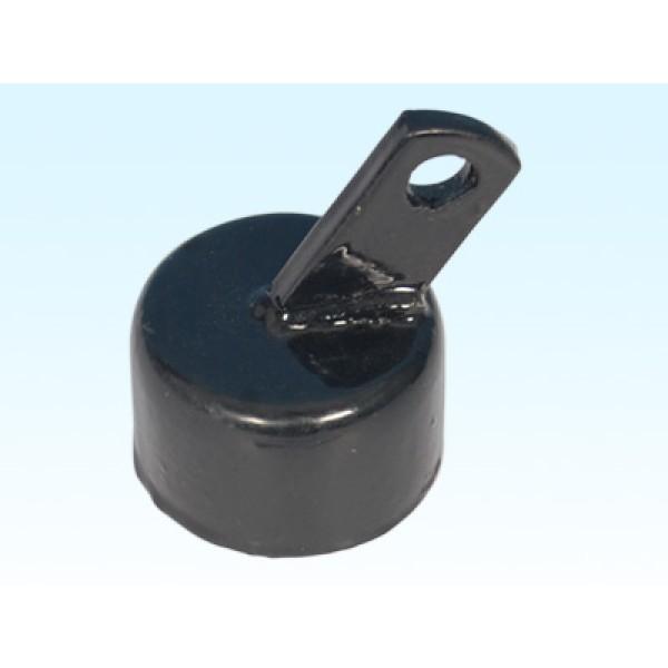"2"" Black Rail Cup Offset (Fits 1 7/8"" OD) Steel"