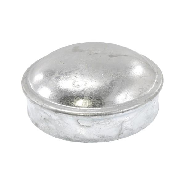"3 1/2"" Galvanized Steel Dome External Round Post Caps"