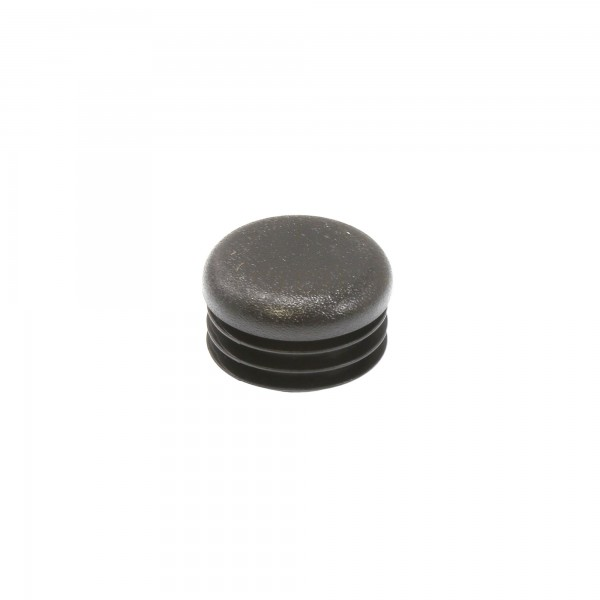 "Poly Plug Cap For Steel Pipe Fits 1 3/8"" OD Pipe or 1.125"" ID Black"