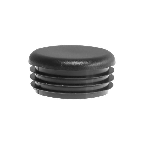 "Chain Link Black Pipe Plug for 2"" Pipe [1 7/8"" OD] - Internal Pipe Cap (Polyethylene)"
