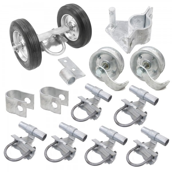 Chain Link Rolling Gate Hardware Kit for Rolling/Sliding Gates (Steel)