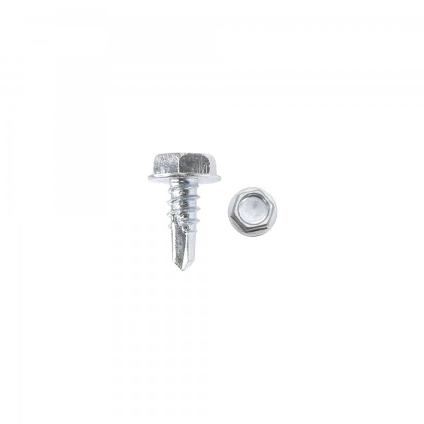 "Chain Link 1/2"" #10 Hex Zinc Plated Self Tapping Tek Screws w/ Washer Head (Steel)"
