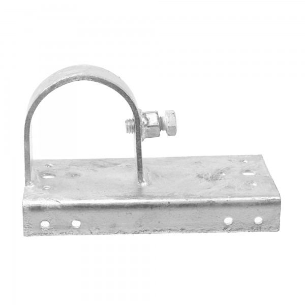 """Chain Link 2 1/2"""" [2 3/8"""" OD] x 6"""" Wooden Fence to Post End Adapter (Galvanized Pressed Steel)"""