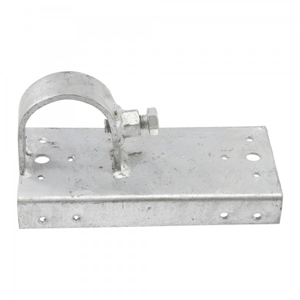 """Chain Link 2"""" [1 7/8"""" OD] x 6"""" Wooden Fence to Post End Adapter (Galvanized Pressed Steel)"""