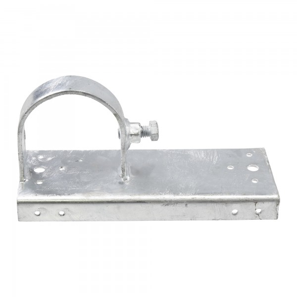 """Chain Link 3"""" [2 7/8"""" OD] x 8"""" Wooden Fence to Post End Adapter (Galvanized Pressed Steel)"""