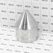 "2 1/2"" Zero Way Aluminum Bullet Caps (Fits 2 3/8"" OD) - Grid Shown For Scale"