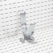 """Chain Link 4"""" [4"""" OD] Wall Mount Drop Fork Latch Kit Galvanized - Gate Fork Latch - Pressed Steel (Grid Shown For Scale)"""