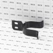 "Chain Link 2"" [1 7/8"" OD] Black Drop Fork Latch - Gate Fork Latch (Steel) - Grid Shown For Scale"