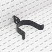 "Chain Link 3"" [2 7/8"" OD] Black Drop Fork Latch - Gate Fork Latch (Steel) - Grid Shown For Scale"