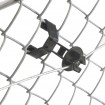 """Electric Fence Insulator 25 Pack For Standard Chain Link Fence Fabric or 1 3/4"""" to 2 1/8"""" Width U-Posts - Black (Utility Wire Installation Shown)"""