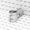 """Chain Link 1 5/8"""" x 1 3/8"""" End Rail Clamp - Rail Band, T Clamp (Galvanized Steel) - Grid Shown For Scale"""