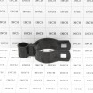 "2"" x 5/8"" Black Female Gate Frame Hinge (Fits 1 7/8"" OD) Pressed Steel - Grid Shown For Scale"