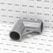 """1 3/8"""" x 1 3/8"""" Aluminum Gate Corner - 1 3/8"""" Chain Link Fence Gate Elbow (Grid Shown For Scale)"""