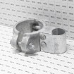 """Chain Link 4"""" Industrial Gate Box Hinge - Butt Hinge (Galvanized Cast Steel) - Grid Shown For Scale"""