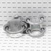 "Chain Link 2 1/2"" [2 3/8"" OD] Adjustable 180° Offset Arm Hinge - Industrial Gate Hinge (Galvanized Cast Steel) - Grid Shown For Scale"