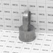 "Die-Cast Aluminum 1 5/8"" (1 5/8"" OD) x 1 3/8"" (1 3/8"" OD) Top Rail Eye Top Loop Caps (Grid Shown For Scale)"