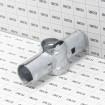 """Chain Link 1 5/8"""" x 1 3/8"""" Line Rail Clamp - Boulevard Clamp (Galvanized Steel) - Grid Shown For Scale"""
