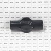 """Chain Link 1 5/8"""" X 1 5/8"""" Black Line Rail Clamp - Boulevard Clamp (Galvanized Steel) - Grid Shown For Scale"""