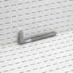 """Chain Link Male Lag Screw Gate Hinge 5/8"""" x 6"""" (Adjustable) - Galvanized Steel (Grid Shown For Scale)"""