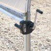 Jiggly Greenhouse® Sidewall Manual Hand Crank Winch for Greenhouse Ventilation (Steel) - Installation Shown As Example