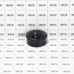 """Chain Link 1 5/8"""" Black Round Dome External Post Cap (Steel) - Grid Shown For Scale"""
