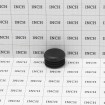 "Poly Plug Cap For Steel Pipe Fits 1 3/8"" OD Pipe or 1.125"" ID Black (Grid Shown For Scale)"