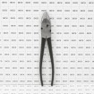"""10"""" Heavy Duty Fence Pliers Round Nose Utica Style (Grid Shown For Scale)"""