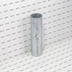 """Chain Link 1 5/8"""" x 7"""" Top Rail Sleeve (Galvanized Pressed Steel) - Grid Shown For Scale"""