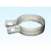 "Chain Link 1 5/8"" Beveled Brace Band [12 Gauge] - Rail End Band (Galvanized Steel)"